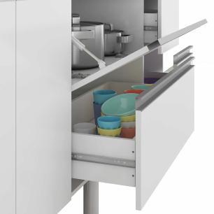Balcao De Cozinha 100% Mdf Prisma Para Pia 144 Cm Branco/Café - Mgm