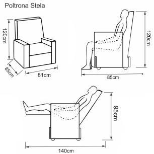 Poltrona Reclinavel Stela Tecido Poliester 8184 - Marrom - Delare