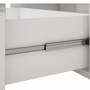 Balcao De Cozinha 100% Mdf Flex 94 Cm Branco/Preto - Mgm