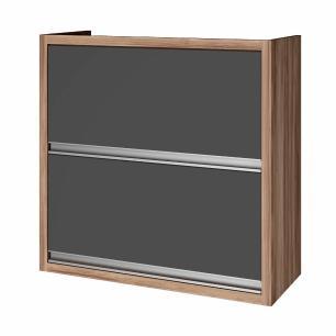 Armario de cozinha 2 portas Nesher Baronesa 80 cm - Grafite - Nesher