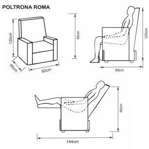 Poltrona Reclinavel Roma Korino 434 - Marrom - Delare