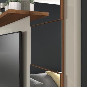 Painel Para TV Murano 100% MDF Off White/Savana - Permobili