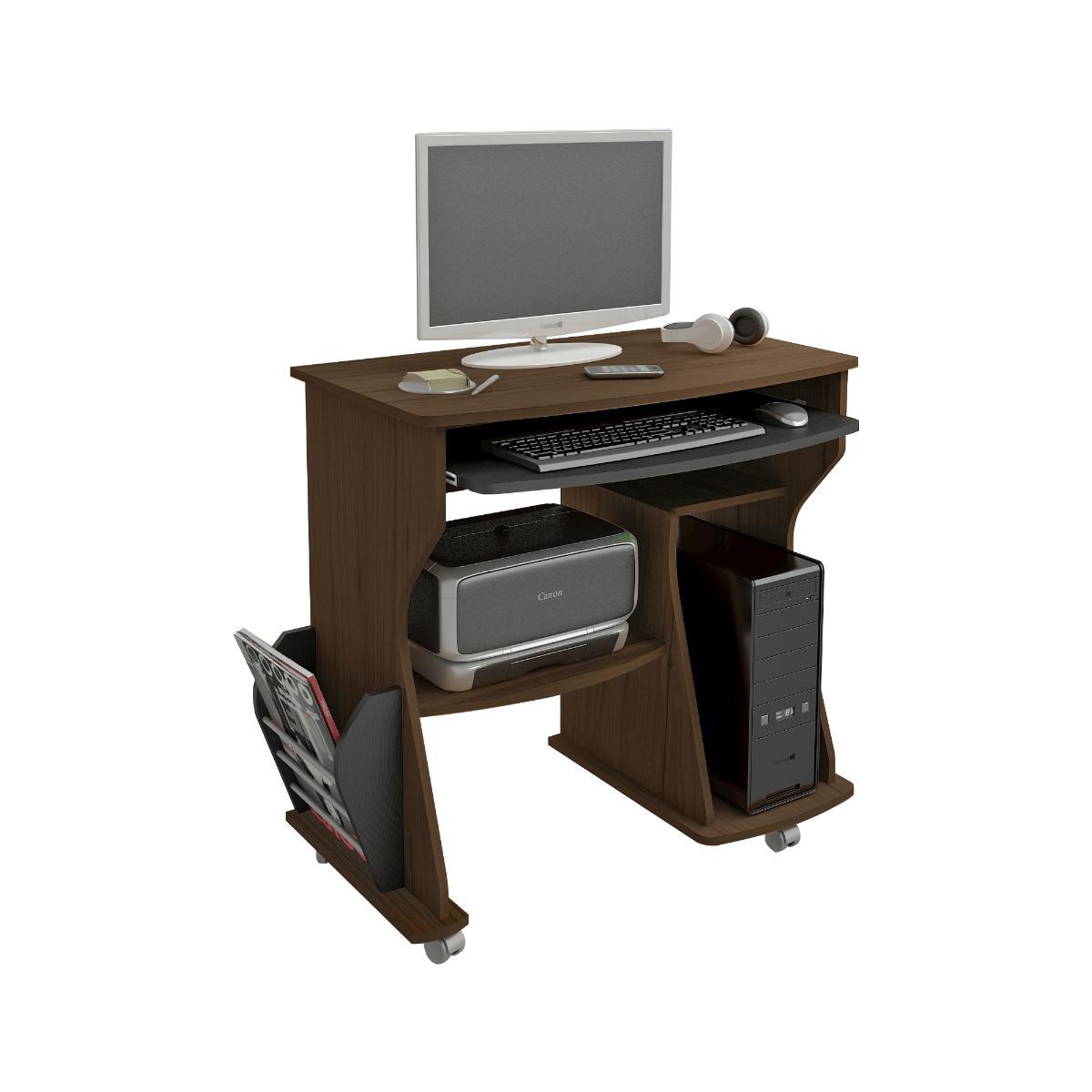 Mesa Para Computador 160 - Amendoa/Preto - Artely