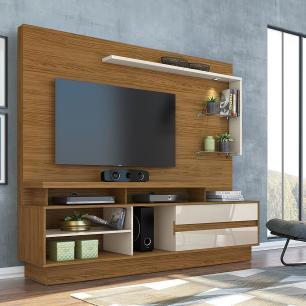 Home Theater Vicente - Naturale/Off White - Madetec