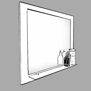 Espelheira para Banheiro 100% MDF  Barcelona 60 Cm - Café - Mgm