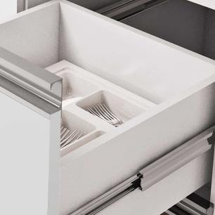Balcao De Cozinha 100% Mdf Prisma Para Pia 174 Cm Branco/Carvalho - Mgm
