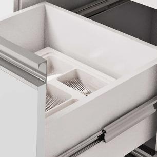 Balcao De Cozinha 100% Mdf Ibiza Para Pia 174 Cm Amendoa/Off White - Mgm