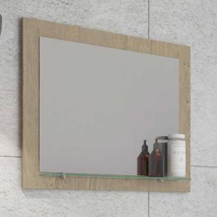 Espelheira para Banheiro 100% MDF  Barcelona 60 Cm - Carvalho - Mgm
