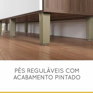 Cozinha Compacta Master - Nogal/Branco - Nesher