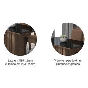 Mesa Ana 130cm x 80cm - Marrocos/Preto - Cimol