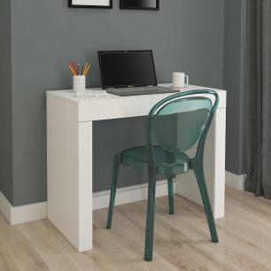 Escrivaninha Mesa para Notebook com 1 Gaveta Cleo Branco - Permobili