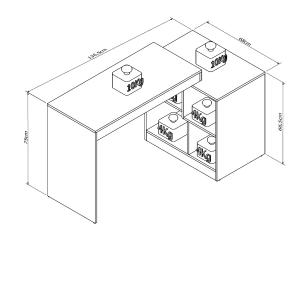 Escrivaninha e Mesa Para Computador Moove - Branco - Appunto