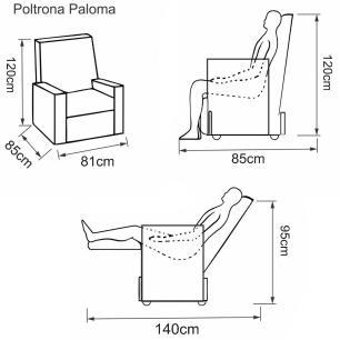 Poltrona Reclinável Paloma - Korino Bege 450 - Delare