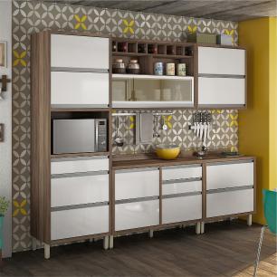Cozinha compacta Nesher Baronesa 1 - Branco - Nesher