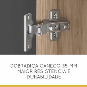 Paneleiro Condessa 2 Portas e 2 Gaveta 60 cm - Cedro/Grafite - Nesher