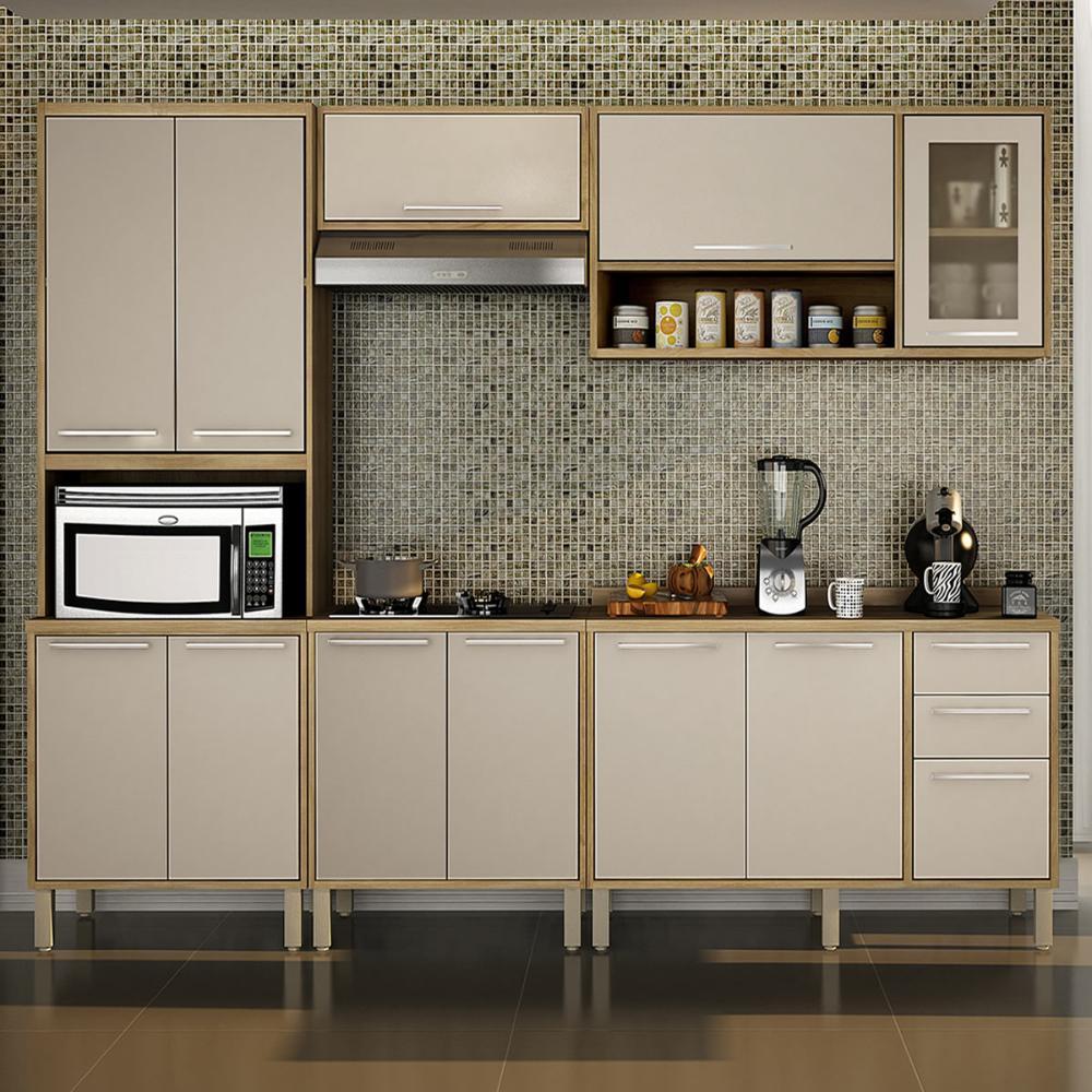 Cozinha 5 Peças Paris 04 - Carvalho/Off White - Salleto