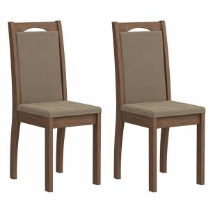 Sala Jantar Anita 120 Cm x 80 Cm Com 4 Cadeiras Livia Savana/Sued Marfim- Cimol