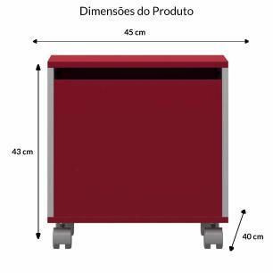 Bau Multiuso P - Vermelho - Primolar