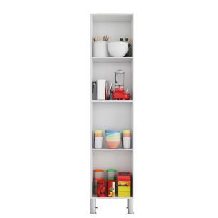 Armario De Cozinha Paneleiro 100% Mdf Flex Amendoa/Off White - Mgm