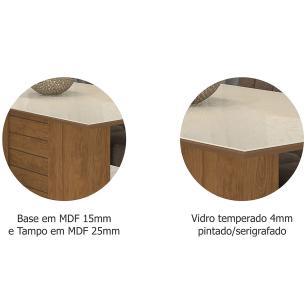 Mesa Rafaela 130cm x 80cm - Savana/Off White - Cimol