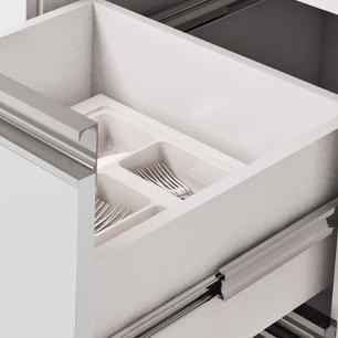 Balcao De Cozinha 100% Mdf Ibiza Para Pia 194 Cm Branco/Café - Mgm