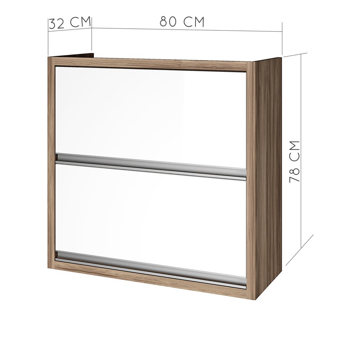 Armario de cozinha 2 portas Nesher Baronesa 80 cm - Branco - Nesher