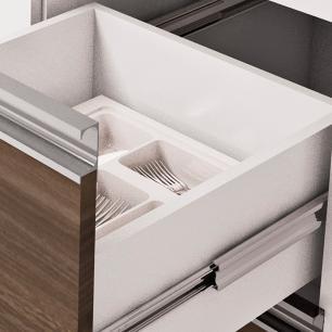Balcão de cozinha Prisma Para Pia 140 cm - Branco/Castanho - Mgm