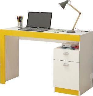 Mesa para Notebook Melissa Branco/Amarelo - Permobili