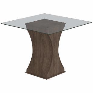 Sala Jantar Andreia 100cm x 100cm Com 4 Cadeiras Milena Marrocos/Chocolate - Cimol - FORA DE LINHA