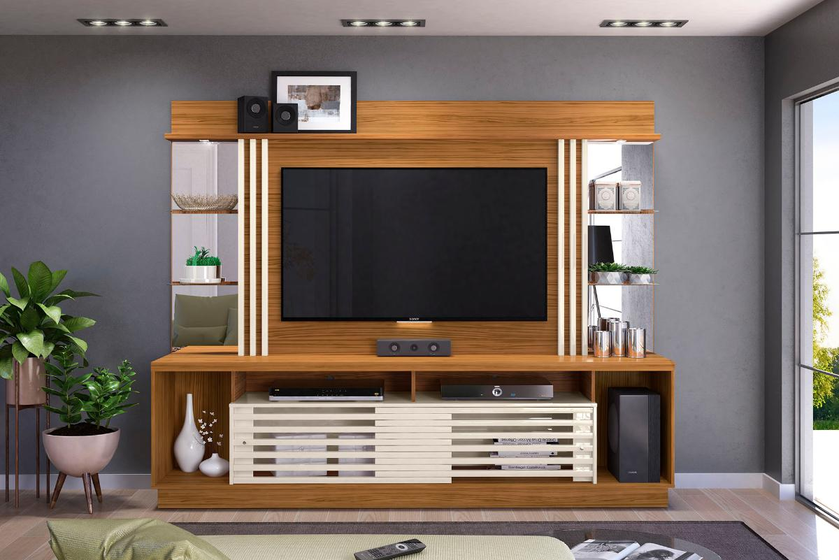 Home Theater Frizz Gold - Naturale/Off White - Madetec