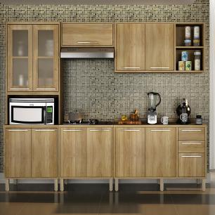 Cozinha 5 Peças Paris 02 - Carvalho - Salleto