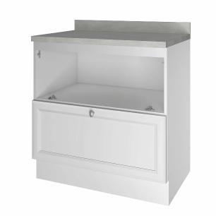 Balcão de Cozinha Americana 1 Porta 1 Gaveta 80 cm - Branco - Nesher