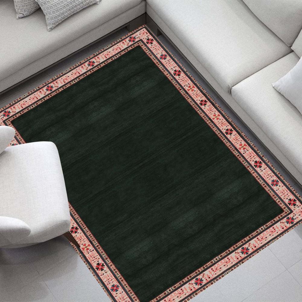 Tapete para Sala DNA Home Shirvan Talish Verde Antiderrapante 200x140cm