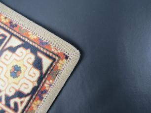 Tapete Para Sala Chevron Azul DNA Home Antiderrapante 200x140 cm