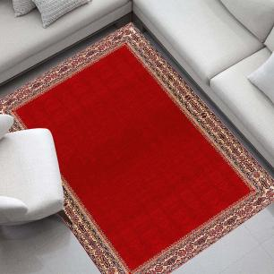 Tapete para Sala DNA Home Shirvan Red Antiderrapante 200x140cm
