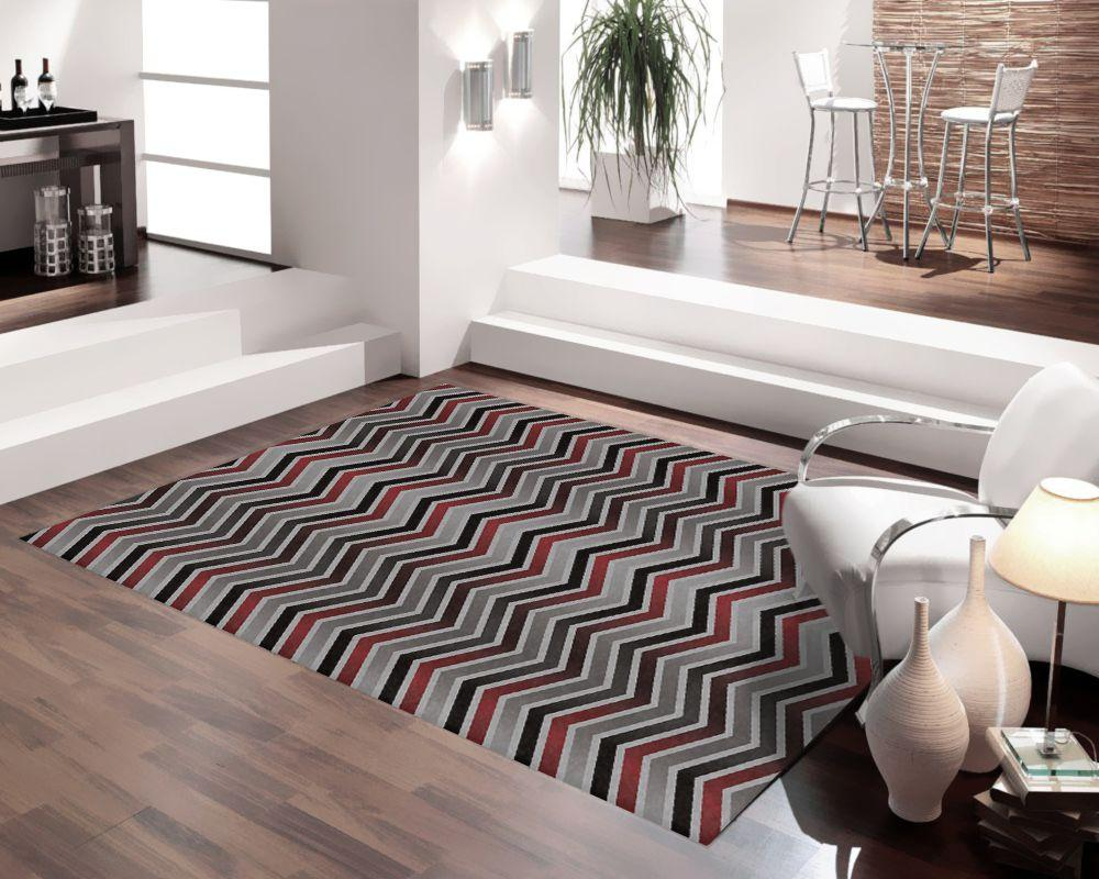Tapete para Sala DNA Home Chevron Gradiente Antiderrapante 200x140cm