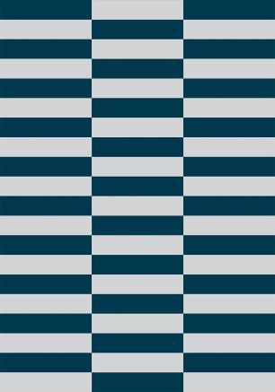 Tapete Para Sala Constante Azul Petróleo DNA Home Antiderrapante 200x140 cm