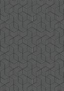 Tapete Para Sala DNA Home  Cubos Cinza Antiderrapante 200x140cm