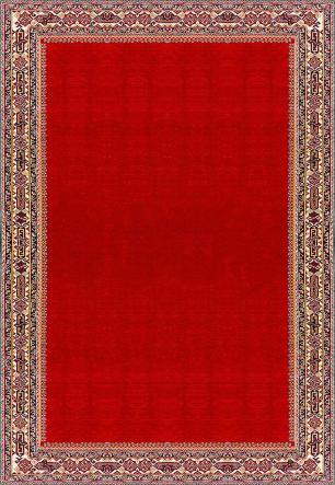 Tapete para Sala DNA Home Shirvan Red Antiderrapante 200x140cm