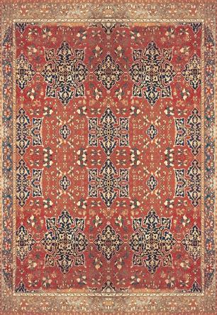 Tapete para Sala DNA Home Antique Oushak Antiderrapante 200x140cm