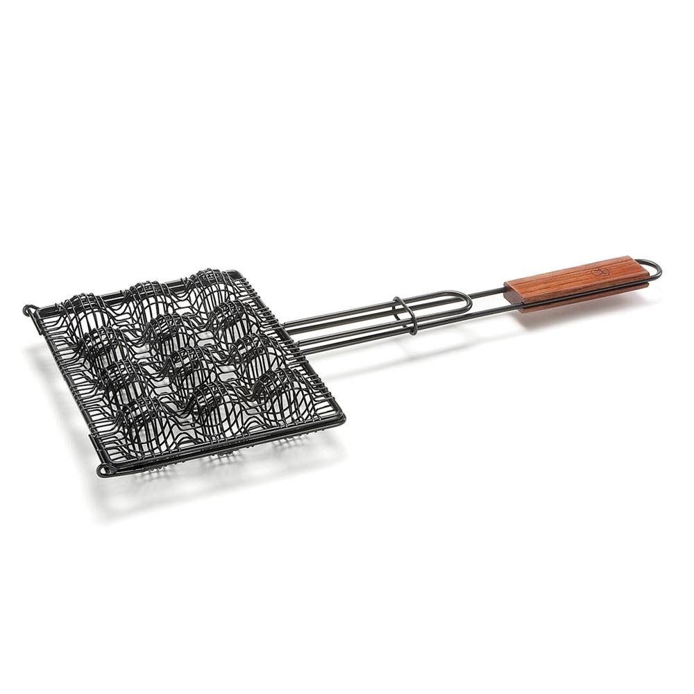 Grelha para almôndegas com cabo em madeira de jacarandá – Outset
