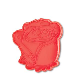 Cortador de biscoito em formato de rosa - Bakelicious