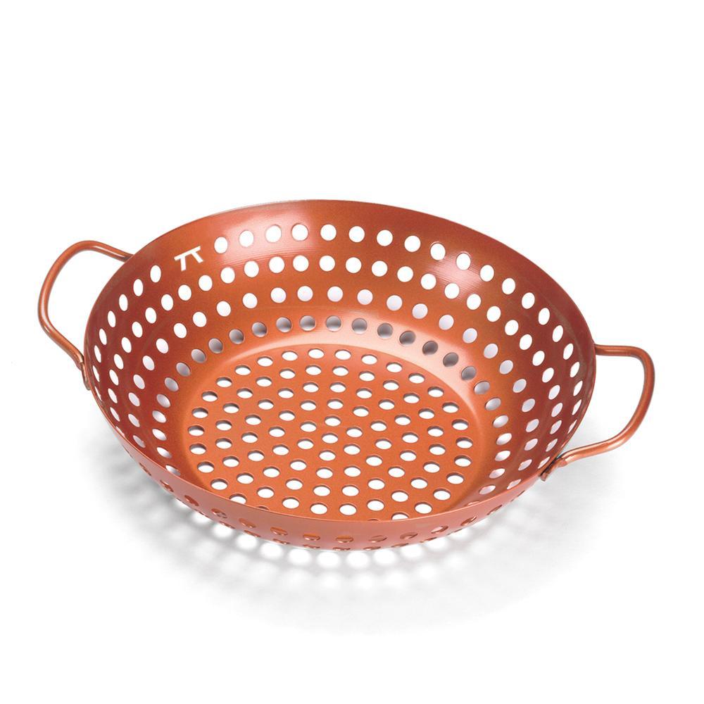 Panela wok para grelhar - com dupla cobertura antiaderente cobre - Outset