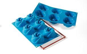 Formas de silicone Vertigo com 6 cavidades - Silikomart