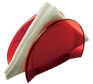 Porta guardanapos Glamour vermelho - Bugatti