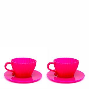 Conjunto com 2 xícaras para cupcake em silicone culinário - Prana