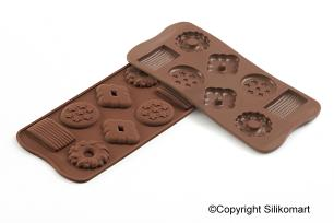 Molde para chocolate Choco Biscuits - Silikomart