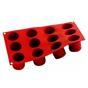 Forma de silicone Cilindros com 12 cavidades - Silikomart