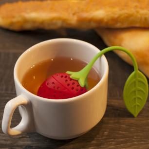 Infusor de chá Prana morango Silicone