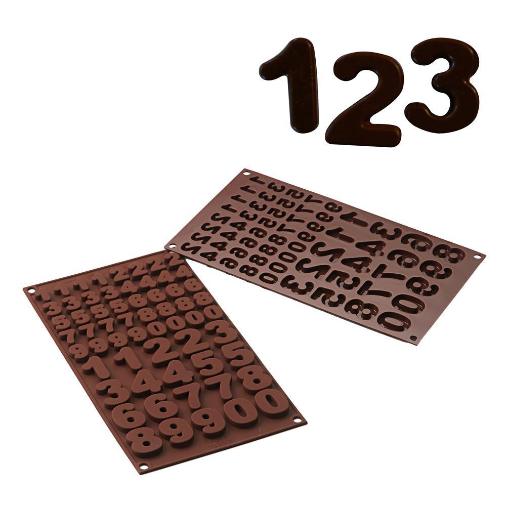 Molde de silicone para chocolate 123 - Silikomart